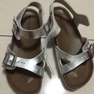 銀色可愛涼鞋
