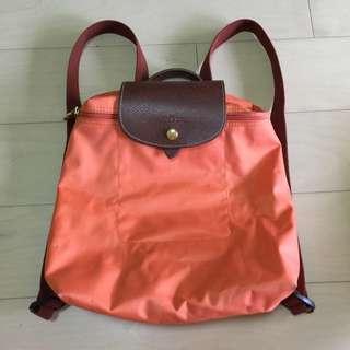 (待匯款)Longchamp 後背包(粉橘)