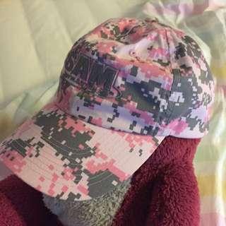 粉紅迷彩帽