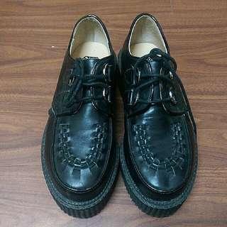 (跳樓大降價!!!) 高級雪糕鞋 黑色 厚底鞋