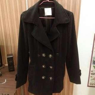 含運✨深藍排扣大衣外套✨
