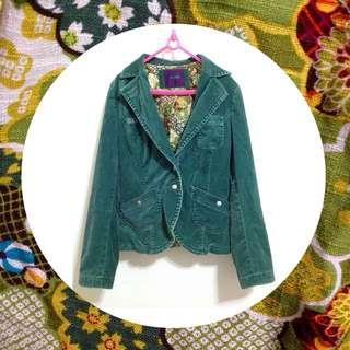 ‼️限時特價‼️復古麂皮牛仔開襟外套-綠