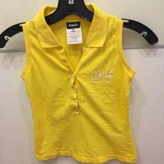 D&G黃色無袖上衣