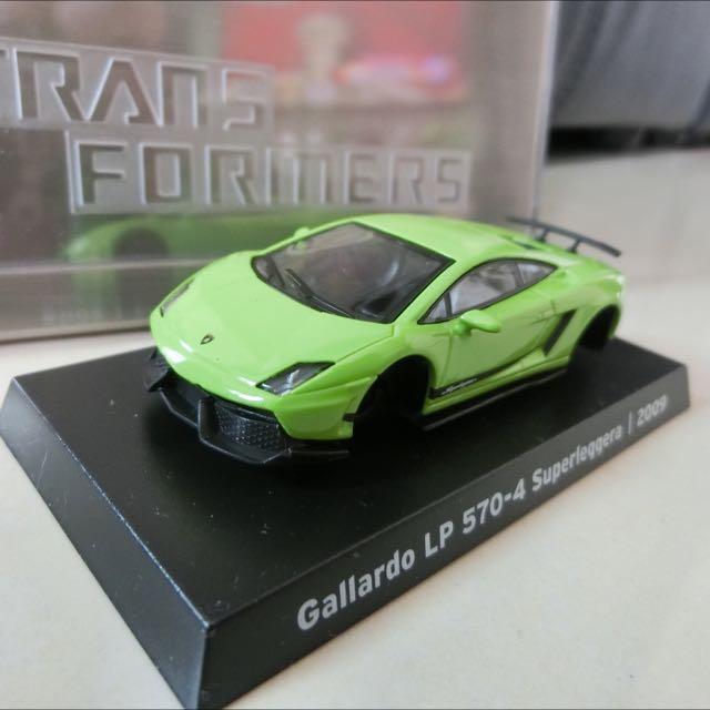 全新7-11 藍寶堅尼 模型車 綠色三號
