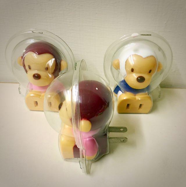 猴子造型插頭 轉接器