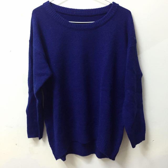 全新 ▪️ 寶藍色毛衣