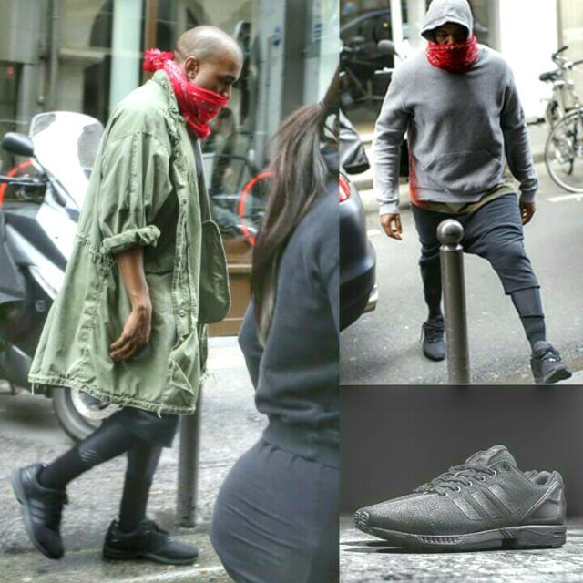 e67f76fb5781d ... czech adidas originals zx flux triple black kanye west mens fashion on  carousell e5e93 9406f