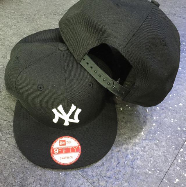 Angel New Era 紐約洋基 NY 黑底白字 SNAPBACK 限量後扣帽