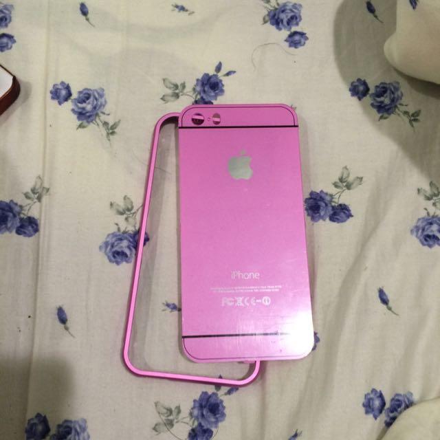 ✔️含運❕二手Iphone5/5s粉紅殼
