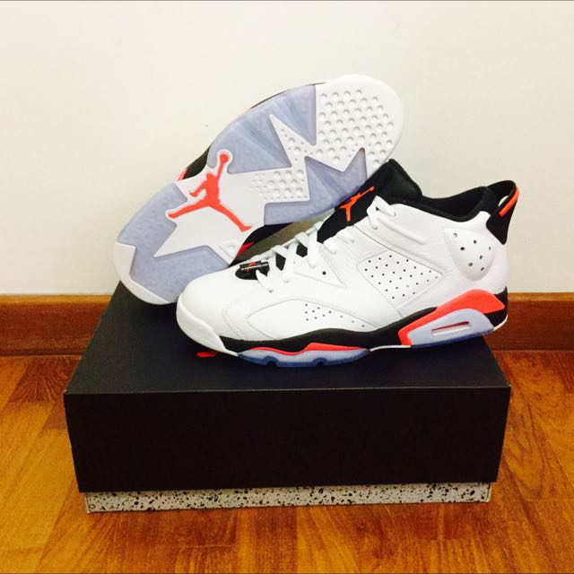 "Jordan 6 Retro Low ""White Infrared"""