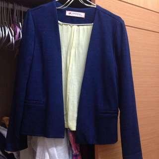 SPRINGFIELD 深藍撞色西裝外套
