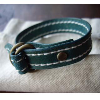 Benson 手縫皮件  手工 手縫 雙D扣 手環