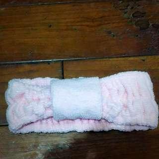 粉色髮帶(居家洗臉用)
