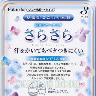 日本製 Fukeuske 滿足 夏日素材高機能涼感修飾型絲襪3組入 M-L 自然裸肌 日本涼感絲襪