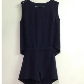 nude 深藍連身套裝