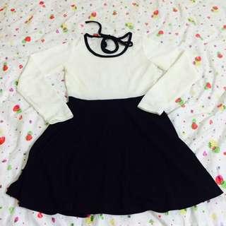 黑白氣質小洋裝
