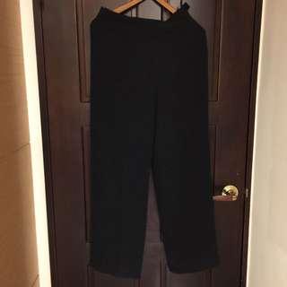 專櫃 Joan 黑 高質感 長寬褲 九成新