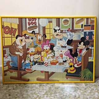Framed Mickey Mouse Jigsaw Puzzle
