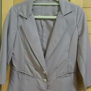 紫藕色西裝外套