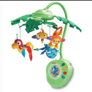 Reduced Price! Fisher price Cot Mobile Rainforest