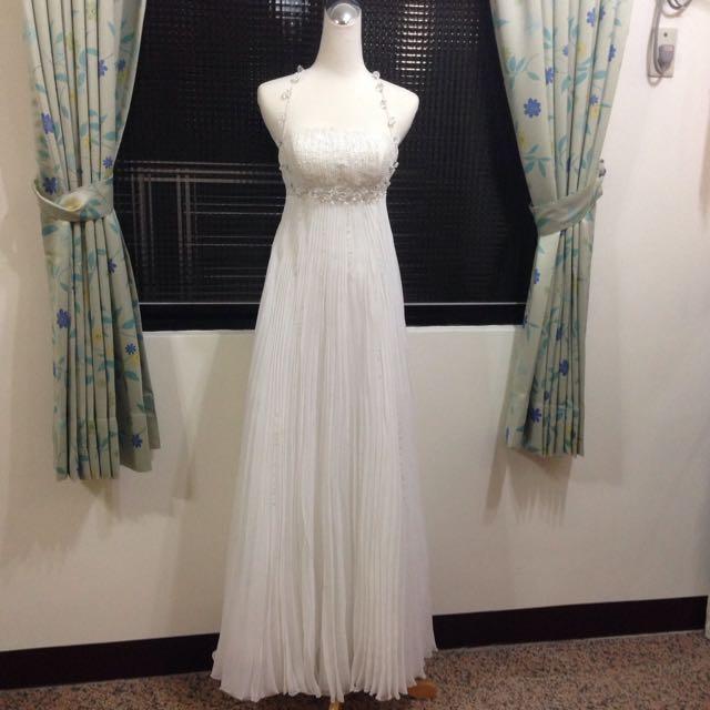 純白水鑽禮服