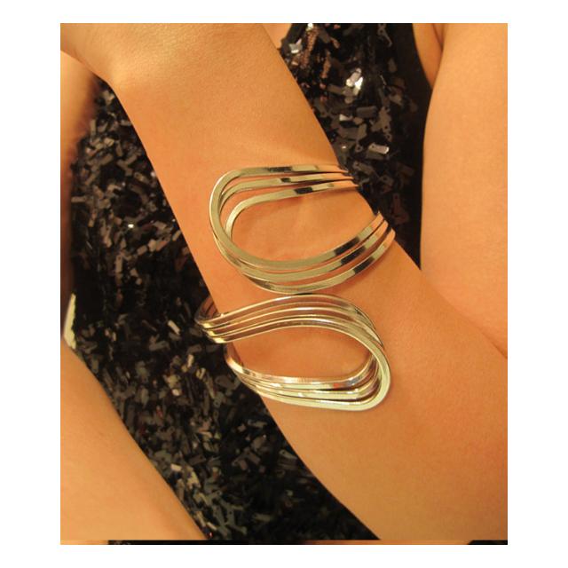 ❤ 銀色曲線唯美時尚手鐲手環歐美復古手飾
