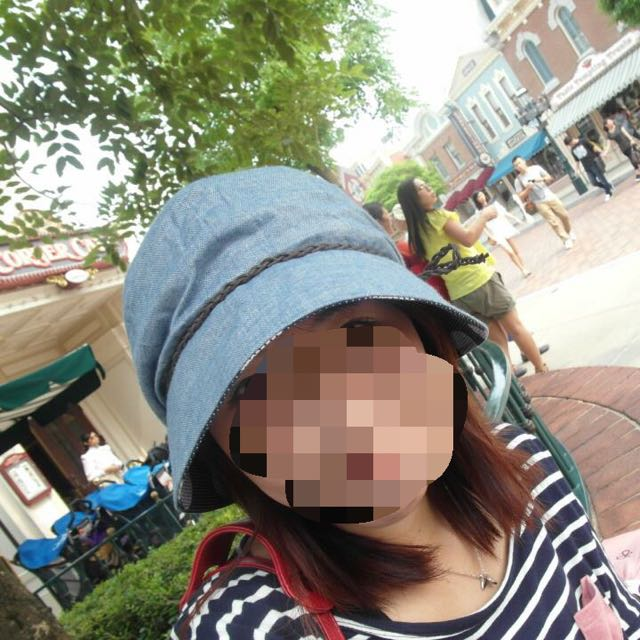 日系時尚 ELLE 美麗華專櫃購入 牛仔漁夫帽 遮陽帽