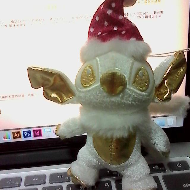 日本 jp 帶回史迪奇聖誕節限定玩偶吊飾