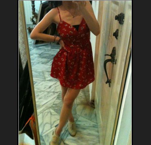 <二手> 超美LOVFEE 紅色 花/雛菊洋裝