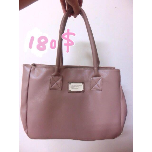 ⚠(降)粉藕色氣質肩背手提兩用質感Aimee包 包