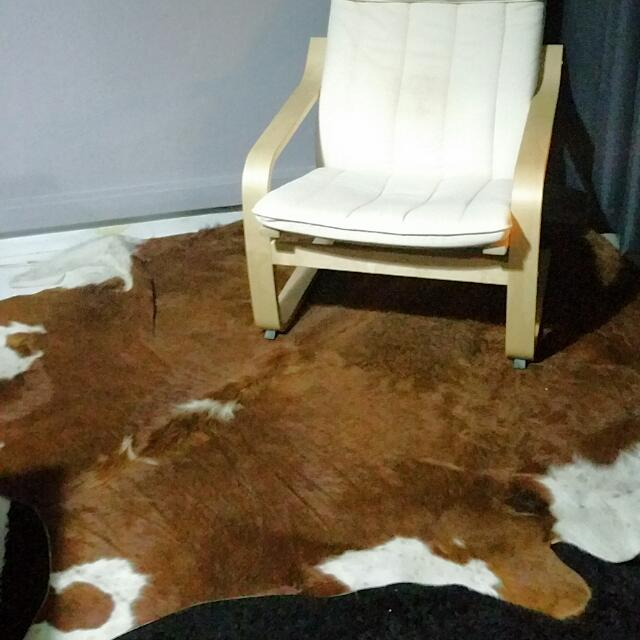 Ikea KOLDBY Genuine Cowhide Rug Carpet