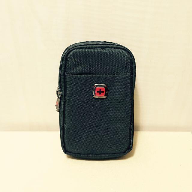 腰包/腰掛包-多功用-iphone6手機/隨身碟/數位相機/零錢/卡片 黑
