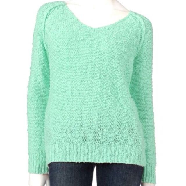 3f167e30da6 Oversized Mint Green Pullover Sweater