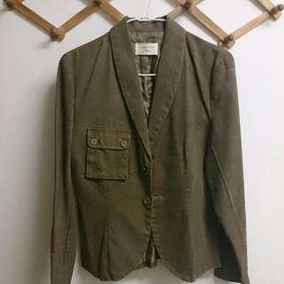 進口墨綠西裝外套