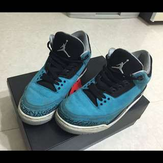 Nike air Jordan 3 retro aj3 powder blue 北卡藍 爆裂紋