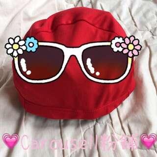韓製-紅色泳帽