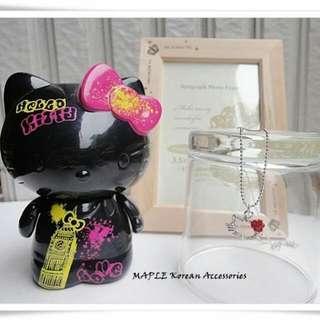(全新)甜甜女孩Kitty貓臉水鑽短項鍊/鎖骨鍊