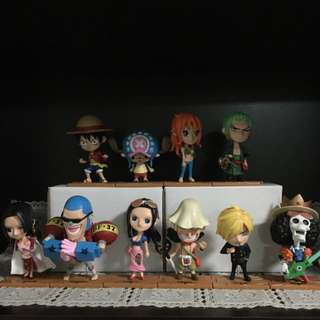 One Piece Figurines Set (10 Characters)