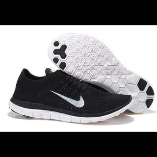 現貨 Nike Free 4.0 Flyknit 赤足 輕跑鞋 針織黑 男女鞋款