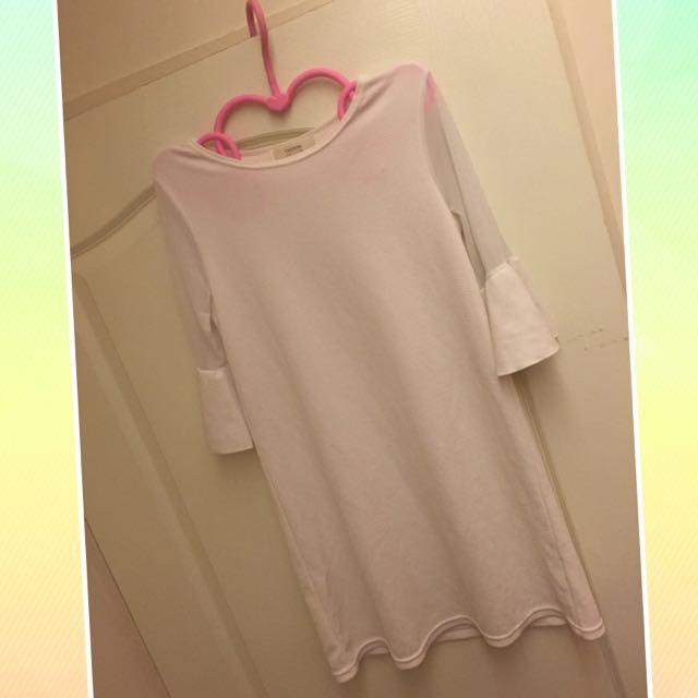 透明蕾絲袖氣質洋裝
