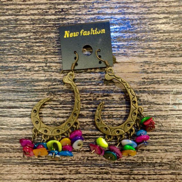 民俗風復古耳環