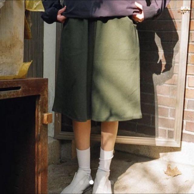 剩綠色現貨✨五分寬褲