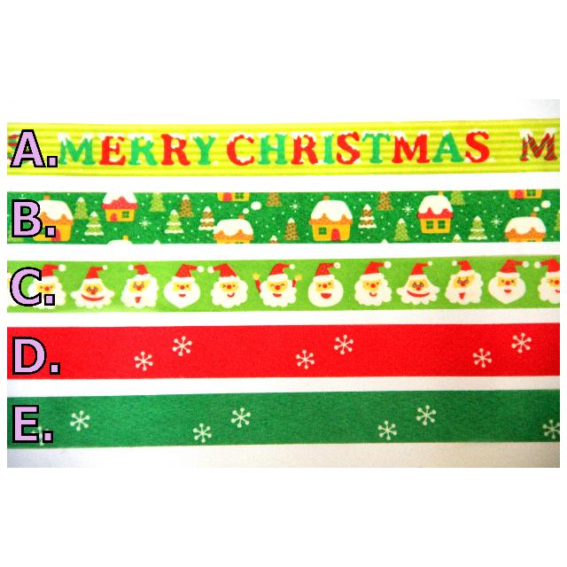 【分裝】 知音 Funtape 聖誕節系列  紙膠帶