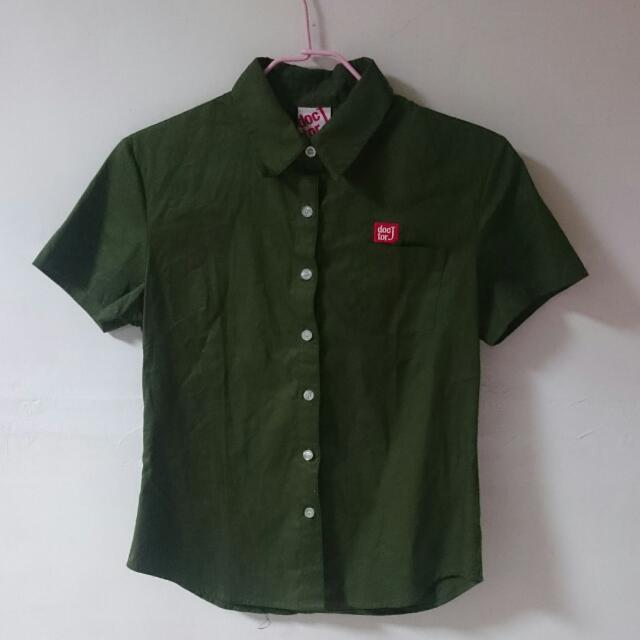 doctorJ軍綠色襯衫