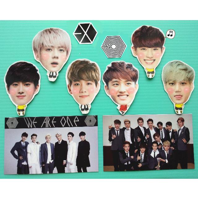 EXO-K 一巡人物貼紙(制服款/休閒款)