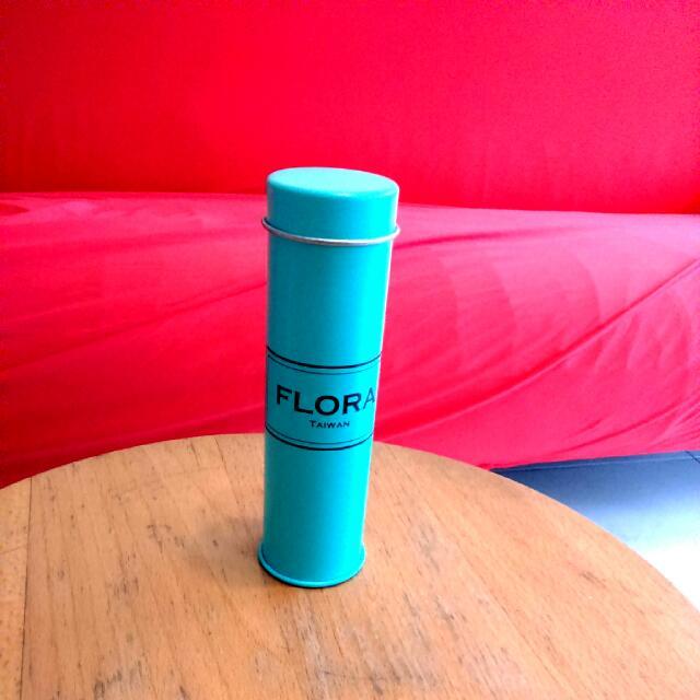 FLORA Taiwan 花仙子藍綠罐子