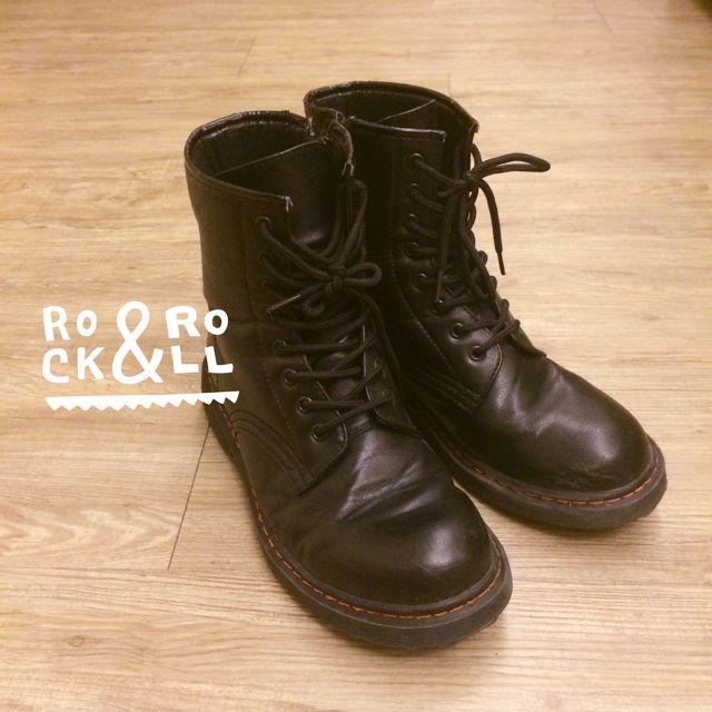 GU 黑軍靴