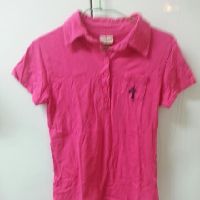 粉紅長頸鹿polo衫