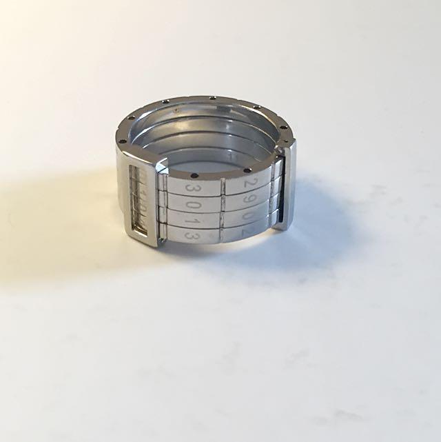 SWATCH 銀限量日期四環戒指