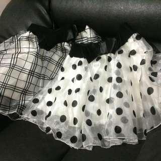 圓點。格紋。小蓬裙。